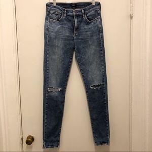 AGOLDE Sophie Distressed Skinny Jeans